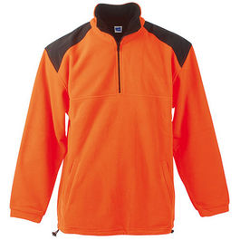 Sudadera CROWN. ORANGE/BLACK TALLA M