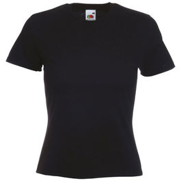 Camiseta Mujer Color VALUEWEIGHT. NEGRO TALLA XS