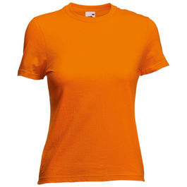 Camiseta Mujer Color VALUEWEIGHT. NARANJA TALLA XS
