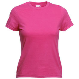 Camiseta Mujer Color VALUEWEIGHT. FUCSIA TALLA M
